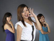 Three Girl Bestfriends Royalty Free Stock Images