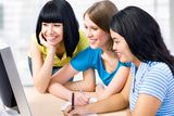 Three girl friends Royalty Free Stock Images