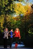Three girlfriends Stock Photography