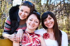 Three girlfriends Royalty Free Stock Images
