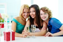 Three girlfriends Royalty Free Stock Photo