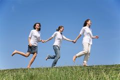 Three Girlfriends Royalty Free Stock Photos