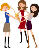 Three girls Royalty Free Stock Photo