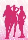 Three girls Stock Image