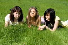 Three girls Stock Photos