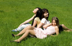 Three girls Stock Images