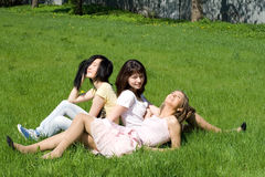 Three girls Royalty Free Stock Images
