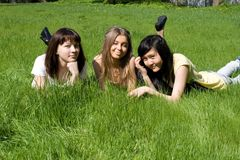 Three girls Royalty Free Stock Photography
