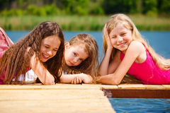 Three girls Stock Photography