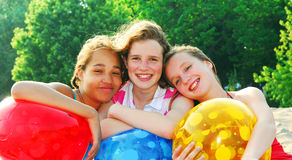 Three girls royalty free stock image