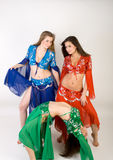Three girls belly dancing Royalty Free Stock Photo