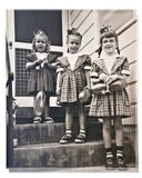 Three Girls/Birthday/Retro Stock Photo
