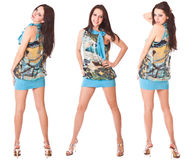 Three girls brunette Royalty Free Stock Images