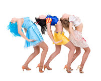 Three girls dancing Stock Photo