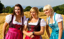 Three girls in Dirndl Stock Images