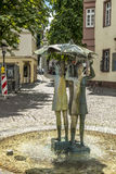 Three girls fountain at the ball square in Mainz Stock Images