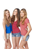 Three girls friends Royalty Free Stock Photography