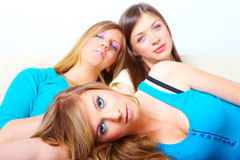 Three girls friendship Royalty Free Stock Photo