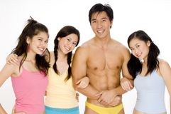 Three Girls and a Guy Royalty Free Stock Photography