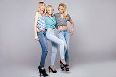 Three girls. Royalty Free Stock Image