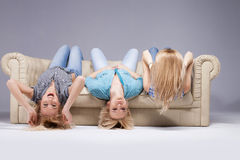 Three girls. Stock Images