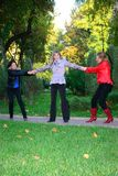 Three girls have fun Royalty Free Stock Photography