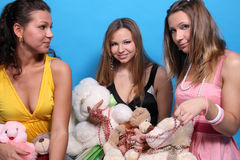 Three girls having fun Stock Photography