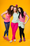 Three girls Stock Images