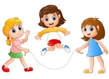 Free Three Girls Playing Jump Rope Royalty Free Stock Photos - 82507588
