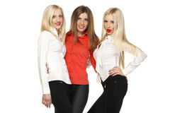 Three girls posing Stock Photo