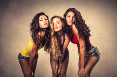 Three girls posing Stock Photography
