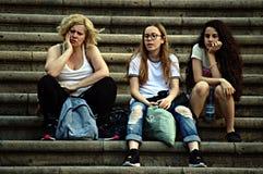 Three girls sitting 134 Stock Photos
