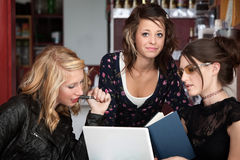 Three Girls Studying Royalty Free Stock Photo