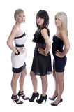 Three glamour female friends Royalty Free Stock Image