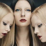 Three glamour girls Royalty Free Stock Images