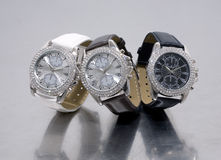 Three glamour watches Stock Photo