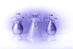 Three glass angels Stock Image