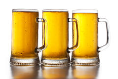 Three glass of beer Stock Image