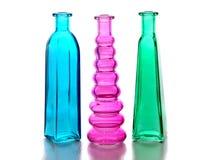 Three glass bottles Royalty Free Stock Photo