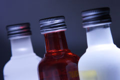 Three glass bottles Stock Photography