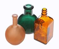 Three glass bottls Stock Images