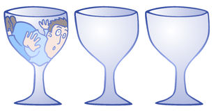 Three glass Stock Images