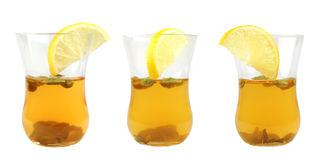 Three glass of green tea Royalty Free Stock Images