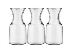 Three glass jugs Stock Photo