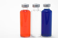 Three Glass Vials Royalty Free Stock Photos