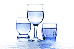Three glass  of water Stock Images