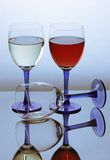 Three glass of wine Stock Photo