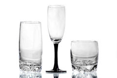 Three glasses. On a white background Royalty Free Stock Photos