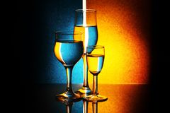 Three glasses Royalty Free Stock Image