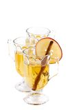 Three Glasses of Apple Cider Stock Images